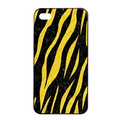 Skin3 Black Marble & Yellow Colored Pencil (r) Apple Iphone 4/4s Seamless Case (black)