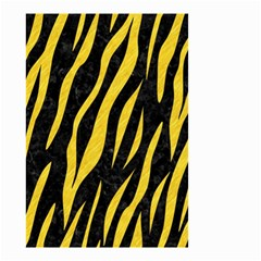 Skin3 Black Marble & Yellow Colored Pencil (r) Small Garden Flag (two Sides)