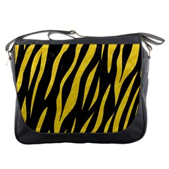 Skin3 Black Marble & Yellow Colored Pencil (r) Messenger Bags