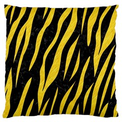 Skin3 Black Marble & Yellow Colored Pencil (r) Large Cushion Case (two Sides)