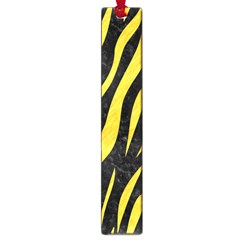 Skin3 Black Marble & Yellow Colored Pencil (r) Large Book Marks