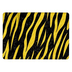 Skin3 Black Marble & Yellow Colored Pencil (r) Samsung Galaxy Tab 10 1  P7500 Flip Case