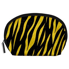 Skin3 Black Marble & Yellow Colored Pencil (r) Accessory Pouches (large)