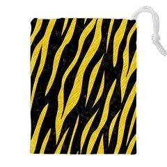 Skin3 Black Marble & Yellow Colored Pencil (r) Drawstring Pouches (xxl)