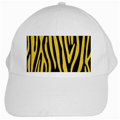 Skin4 Black Marble & Yellow Colored Pencil White Cap