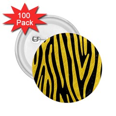 Skin4 Black Marble & Yellow Colored Pencil 2 25  Buttons (100 Pack)