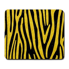 Skin4 Black Marble & Yellow Colored Pencil Large Mousepads