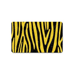Skin4 Black Marble & Yellow Colored Pencil Magnet (name Card)