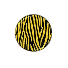 Skin4 Black Marble & Yellow Colored Pencil Hat Clip Ball Marker