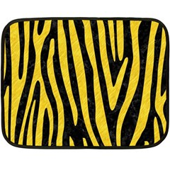 Skin4 Black Marble & Yellow Colored Pencil Double Sided Fleece Blanket (mini)