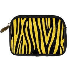 Skin4 Black Marble & Yellow Colored Pencil Digital Camera Cases