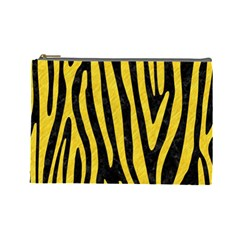 Skin4 Black Marble & Yellow Colored Pencil Cosmetic Bag (large)