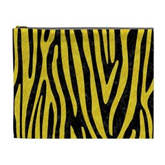 Skin4 Black Marble & Yellow Colored Pencil Cosmetic Bag (xl)