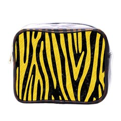 Skin4 Black Marble & Yellow Colored Pencil Mini Toiletries Bags