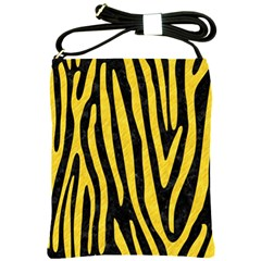 Skin4 Black Marble & Yellow Colored Pencil Shoulder Sling Bags