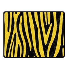 Skin4 Black Marble & Yellow Colored Pencil Fleece Blanket (small)