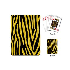 Skin4 Black Marble & Yellow Colored Pencil Playing Cards (mini)