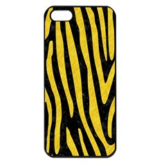 Skin4 Black Marble & Yellow Colored Pencil Apple Iphone 5 Seamless Case (black)
