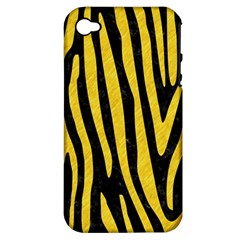 Skin4 Black Marble & Yellow Colored Pencil Apple Iphone 4/4s Hardshell Case (pc+silicone)