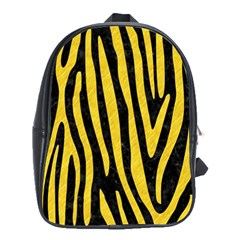 Skin4 Black Marble & Yellow Colored Pencil School Bag (xl)