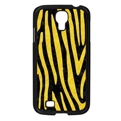 Skin4 Black Marble & Yellow Colored Pencil Samsung Galaxy S4 I9500/ I9505 Case (black)