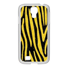 Skin4 Black Marble & Yellow Colored Pencil Samsung Galaxy S4 I9500/ I9505 Case (white)