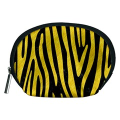 Skin4 Black Marble & Yellow Colored Pencil Accessory Pouches (medium)