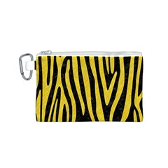 Skin4 Black Marble & Yellow Colored Pencil Canvas Cosmetic Bag (s)