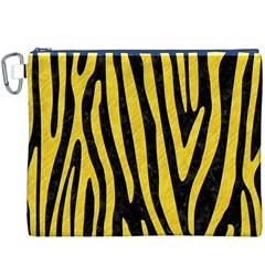 Skin4 Black Marble & Yellow Colored Pencil Canvas Cosmetic Bag (xxxl)