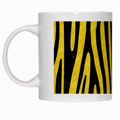 Skin4 Black Marble & Yellow Colored Pencil (r) White Mugs
