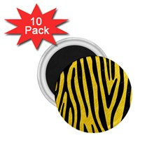 Skin4 Black Marble & Yellow Colored Pencil (r) 1 75  Magnets (10 Pack)