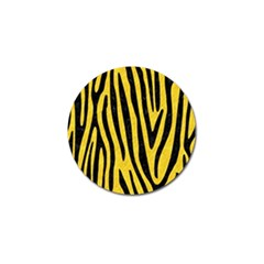 Skin4 Black Marble & Yellow Colored Pencil (r) Golf Ball Marker (10 Pack)