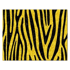 Skin4 Black Marble & Yellow Colored Pencil (r) Rectangular Jigsaw Puzzl