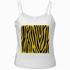 Skin4 Black Marble & Yellow Colored Pencil (r) Ladies Camisoles