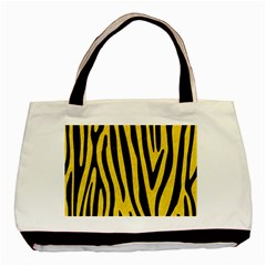 Skin4 Black Marble & Yellow Colored Pencil (r) Basic Tote Bag
