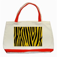 Skin4 Black Marble & Yellow Colored Pencil (r) Classic Tote Bag (red)