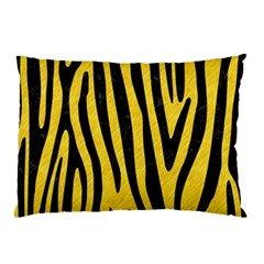 Skin4 Black Marble & Yellow Colored Pencil (r) Pillow Case