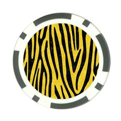 Skin4 Black Marble & Yellow Colored Pencil (r) Poker Chip Card Guard (10 Pack)