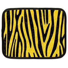 Skin4 Black Marble & Yellow Colored Pencil (r) Netbook Case (xl)