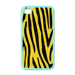 Skin4 Black Marble & Yellow Colored Pencil (r) Apple Iphone 4 Case (color)