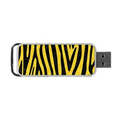 Skin4 Black Marble & Yellow Colored Pencil (r) Portable Usb Flash (two Sides)