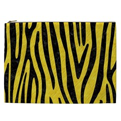 Skin4 Black Marble & Yellow Colored Pencil (r) Cosmetic Bag (xxl)