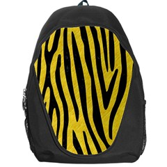 Skin4 Black Marble & Yellow Colored Pencil (r) Backpack Bag