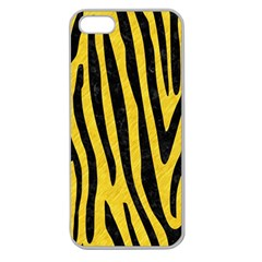 Skin4 Black Marble & Yellow Colored Pencil (r) Apple Seamless Iphone 5 Case (clear)