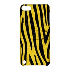 Skin4 Black Marble & Yellow Colored Pencil (r) Apple Ipod Touch 5 Hardshell Case With Stand