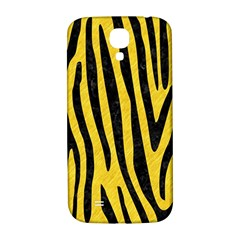 Skin4 Black Marble & Yellow Colored Pencil (r) Samsung Galaxy S4 I9500/i9505  Hardshell Back Case