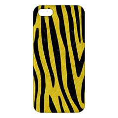 Skin4 Black Marble & Yellow Colored Pencil (r) Iphone 5s/ Se Premium Hardshell Case