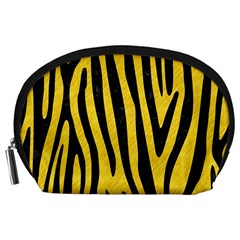 Skin4 Black Marble & Yellow Colored Pencil (r) Accessory Pouches (large)