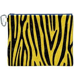 Skin4 Black Marble & Yellow Colored Pencil (r) Canvas Cosmetic Bag (xxxl)