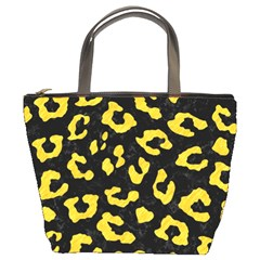 Skin5 Black Marble & Yellow Colored Pencil Bucket Bags